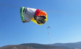 Bursa'da İranlı paraşütçü ölümden döndü!