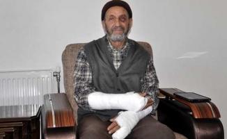 81 yaşındaki adamın kollarını kırıp gözünü morarttılar