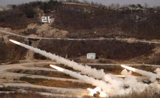 Kuzey Kore'den korkutan tatbikat! Peş peşe fırlattılar!