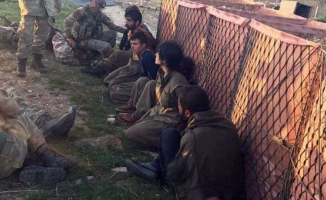 PKK'lı teröristlerin teslim olma görüntüleri ortaya çıktı
