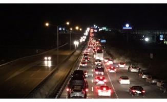 Bursa'da bayram trafiği