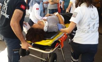 Bursa'da dehşet anları! Seyir halindeki araçtan atıldı!