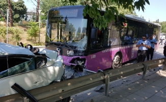 Freni boşalan otobüs dehşet saçtı!