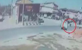 Bursa'da saniye saniye kaza!
