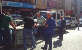 Bursa'da kaldırım işgaline müdahale!