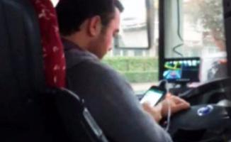 Bursa'da skandal görüntü! Halk otobüsü şoförü...