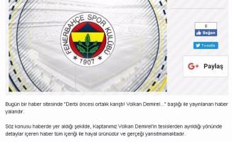 Fenerbahçe'den Volkan Demirel açıklaması