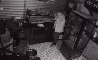Hırsızlık için girdiği tatlıcıya not bıraktı