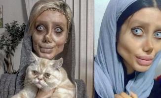 Angelina Jolie'ye benzemek isterken bu hale geldi!