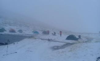 Uludağ'da kar kalınlığı 10 santime ulaştı!
