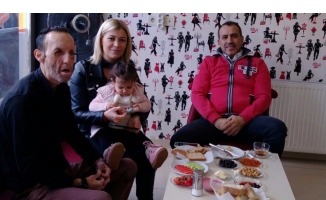 Haluk Levent Bursa'da Recep Sert'i ziyaret etti