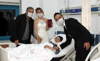 Hastane odasında nikah!