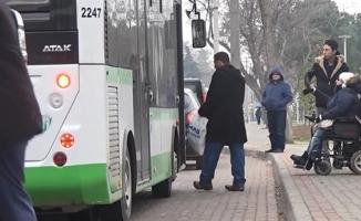 Bursa'da engelli yolcuyu almayan sürücüye ceza!