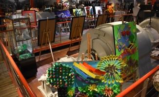 Bursa'da geri dönüşümden sanat eserleri