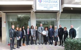 BALKANTÜRKSİAD'dan HASVAK'a anlamlı ziyaret