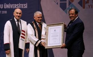 Başbakan Yıldırım'a fahri doktora unvanı