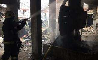 Bursa'da madde bağımlıları fabrikayı kül etti
