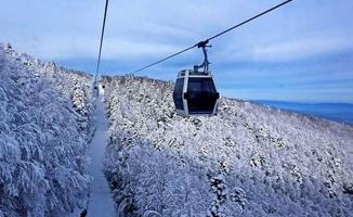 Bursa'da teleferiğe şiddetli rüzgar engeli