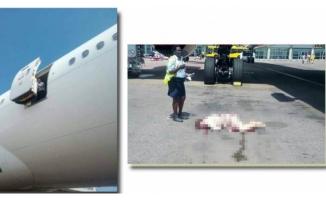 Korkunç! Hostes uçaktan düştü...