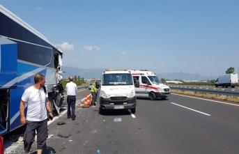 Bursa'da otobanda feci kaza! 4 yaralı...