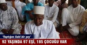 92 yaşında 97 eşi, 185 çocuğu var!