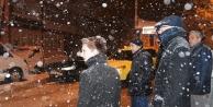 Başkan 'kar' denetiminde