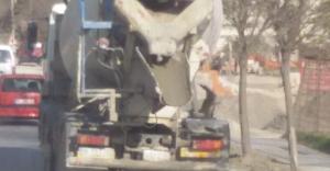 Bursa'da beton mikserlerine ceza yağdı