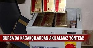 Bursa'da elektrik panosunda kaçak sigara