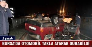 Bursa'da kaygan yol kazaya davetiye çıkarttı