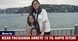 Bursa#039;da kızak kazasında kızını...