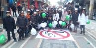 Bursa'da öğrenciler sigaraya savaş açtı!