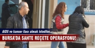 Bursa'da sahte reçete operasyonu!