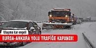 Bursa'da ulaşıma kar engeli!
