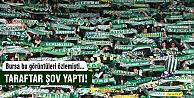 Bursaspor'da taraftar şov yaptı!