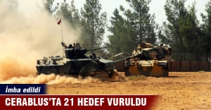 Cerablus'ta 21 hedef 108 atışla vuruldu