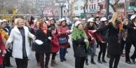 Kadına şiddete danslı protesto