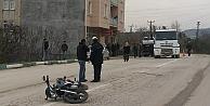 Kamyonet ve motosiklet çarpıştı! 1 ölü