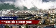 7,7 şiddetin deprem şoku! Tsunami alarmı...