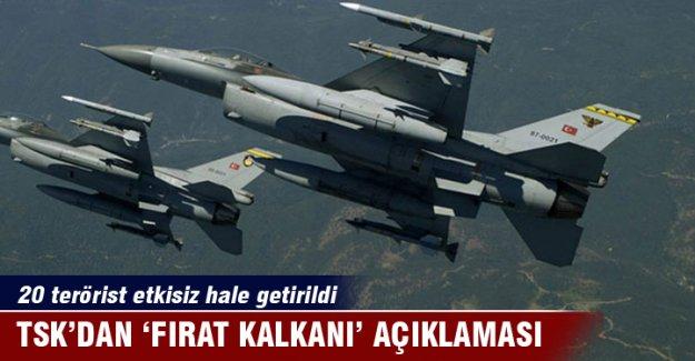 TSK'dan 'Fırat Kalkanı' açıklaması!