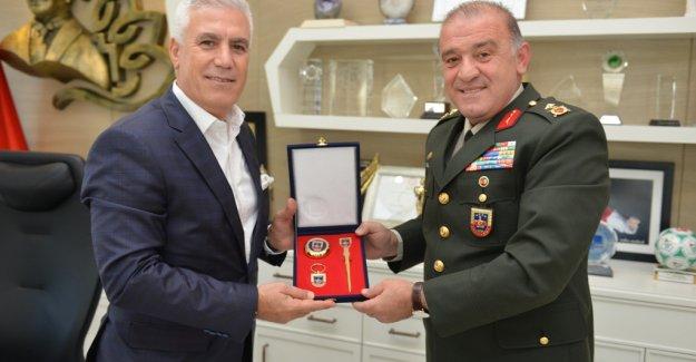 Tuğgeneral Hacıoğlu'ndan Bozbey'e ziyaret
