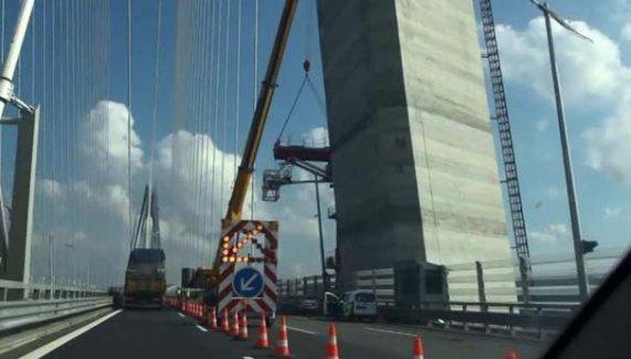Yavuz Sultan Selim Köprüsü'ndeki çalışma trafiği kilitledi!