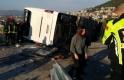 Bursa Uludağ yolunda otobüs devrildi, çok sayıda yaralı var