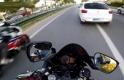 Bursa'da otobanda tehlikeli motosiklet şov