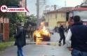 Bursa'da sokak ortasında alev alev yandı! İşte o an kameralarda