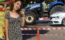 Üniversitenin kampüsünde traktör çarptı