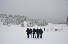 Murat Dağı Kayak Merkezi'ni incelediler