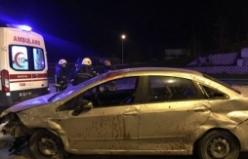 Bursa'da kontrolden çıkan araç taklalar attı!