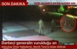Ömer Halisdemir'in darbeci general Semih Terzi'yi öldürdüğü o an!