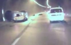 Tünelde dehşete düşüren kaza!