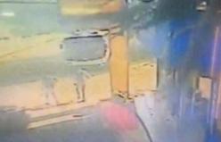 Bursa'da tersten giden halk otobüsü dehşeti kamerada!